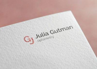 עיצוב לוגו לג'וליה גוטמן - אופטימטריסטית