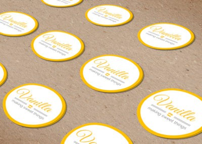 עיצוב מדבקות מוצר - וונילה