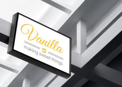 עיצוב שלט לעסק - וונילה